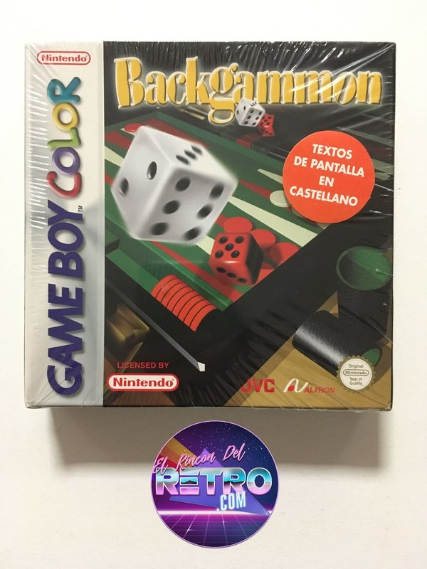 BACKGAMMON NUEVO GAMEBOY COLOR